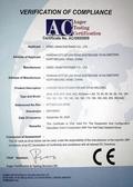 我公司焊钉产品通过欧洲CE认证(European CE Certificate No. AC/0500909)